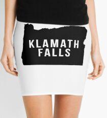 Klamath Falls, Oregon State Silhouette Mini Skirt
