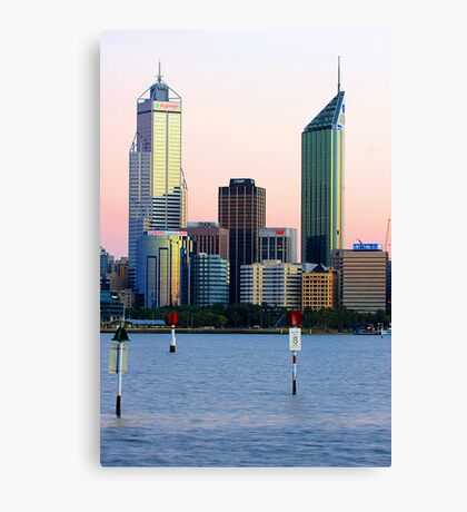 Perth Towers At Sunrise  Canvas Print