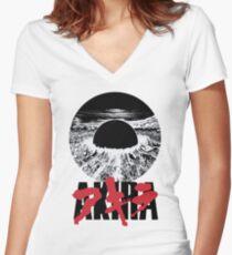 AKIRA Anime/Manga design Women's Fitted V-Neck T-Shirt