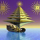 Peace tree boat by Anjo Lafin