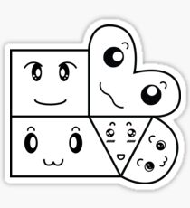 Happy Shapes Sticker Sticker