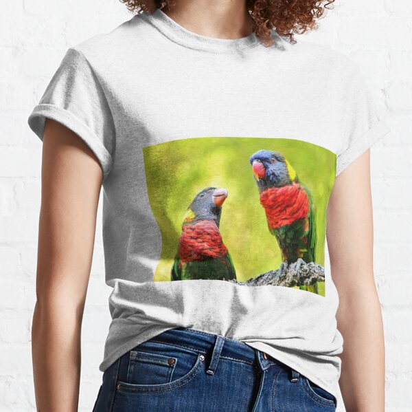 Two Rainbow Lories Classic T-Shirt