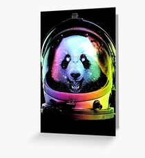 Astronaut Panda Greeting Card