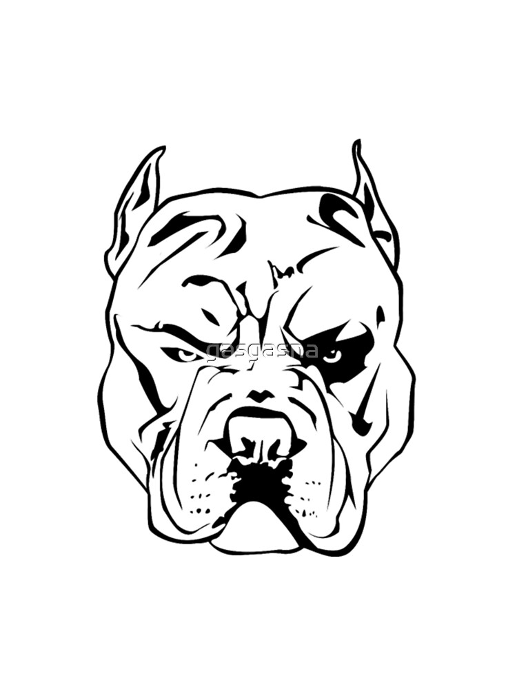 Angry Pitbull Graphic T Shirt By Gasgasna