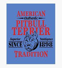Authentic American Pit Bull Terrier Tradition Photographic Print