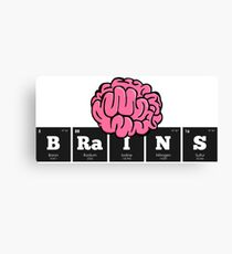 Periodic Elements: BRaINS (Beware of Zombies!) Canvas Print