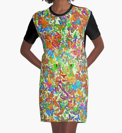 Hiding in butterflies Graphic T-Shirt Dress