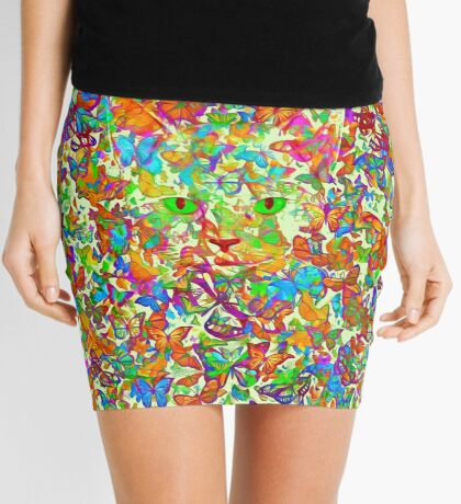 Hiding in butterflies Mini Skirt