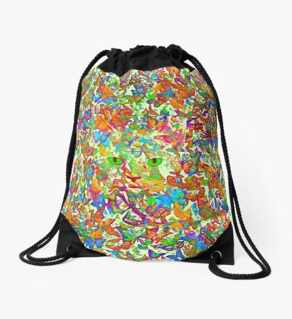 Hiding in butterflies Drawstring Bag