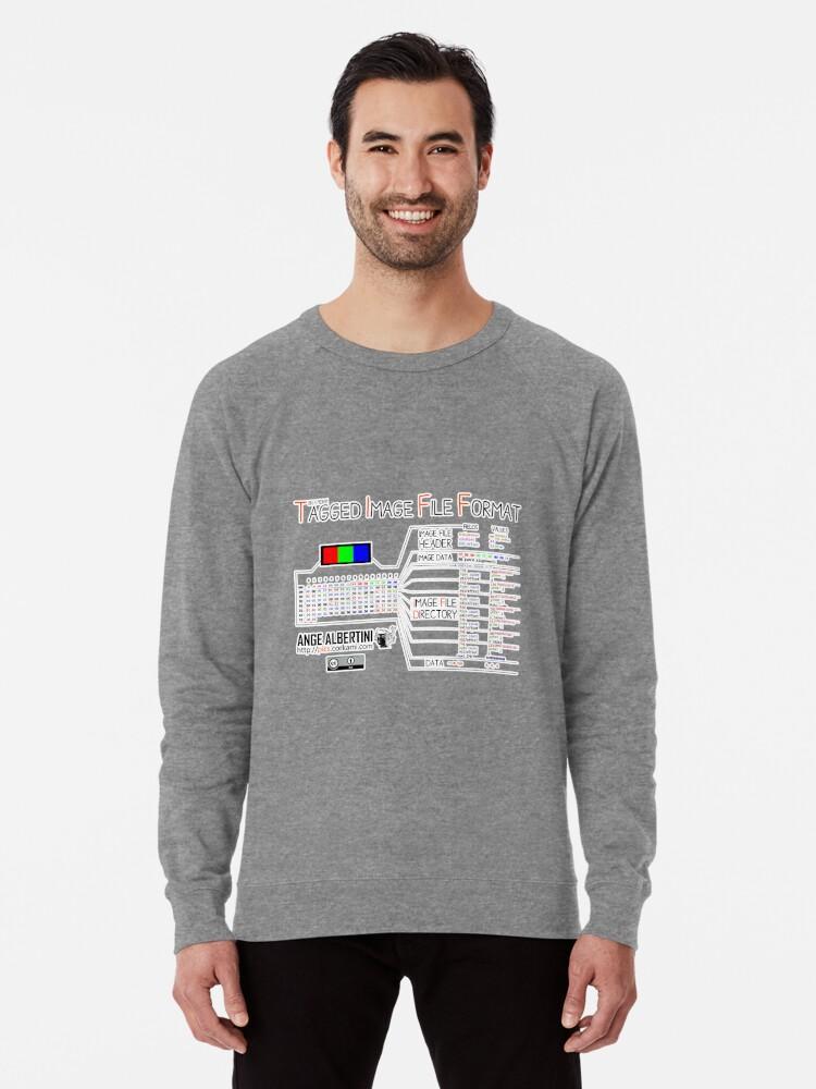 Alternate view of .TIFF : Tagged Image File Format (big endian) Lightweight Sweatshirt