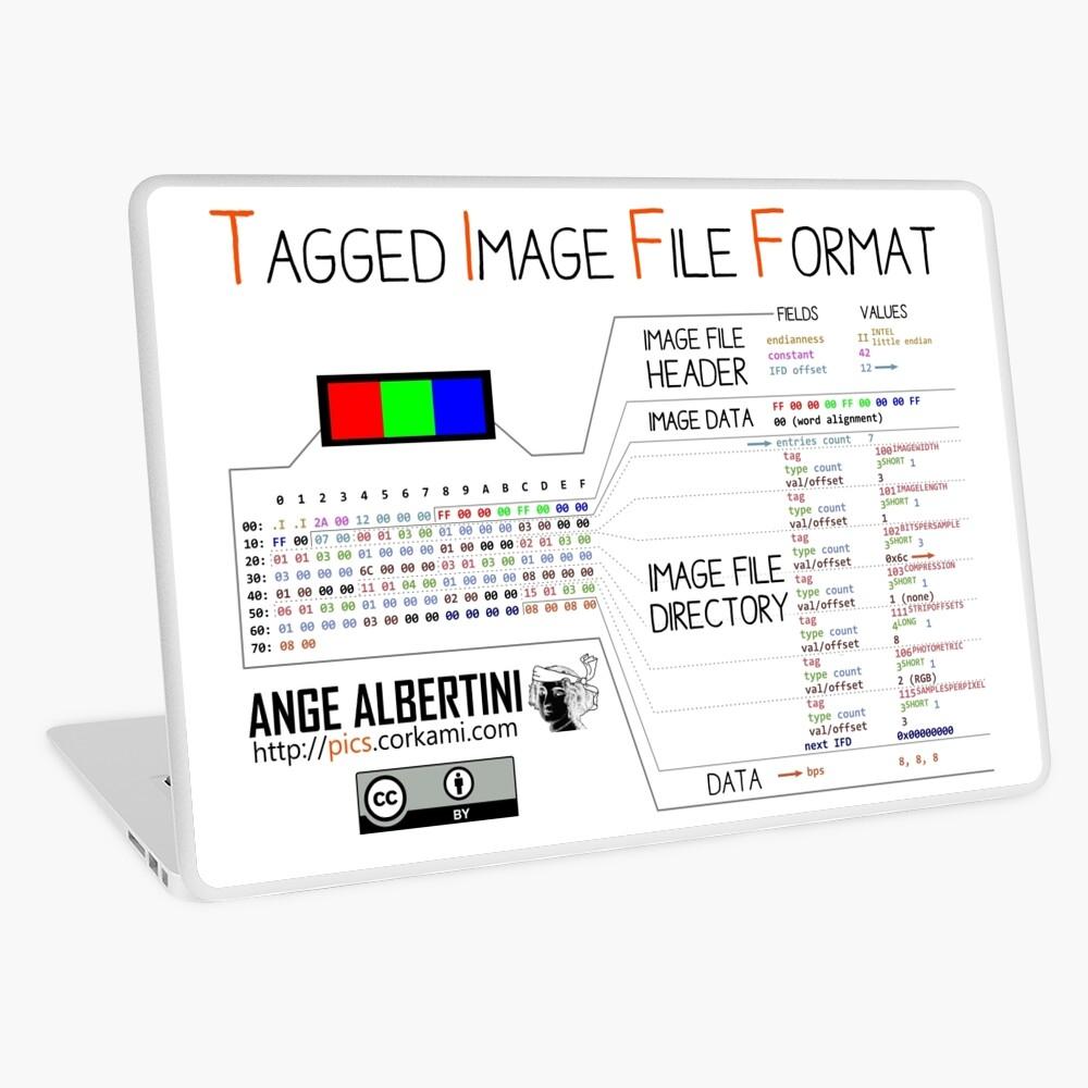 .TIFF : Tagged Image File Format (little endian) Laptop Skin