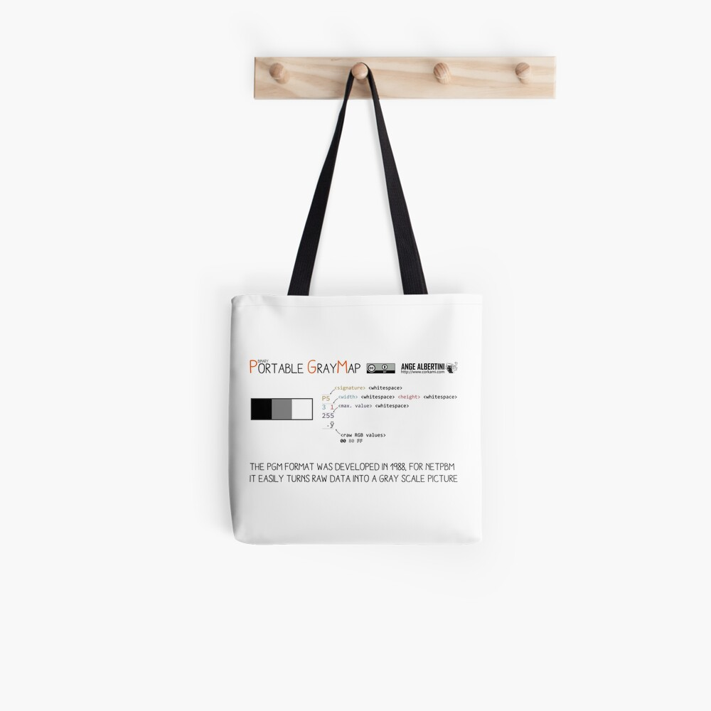 .PGM: Portable Graymap Tote Bag