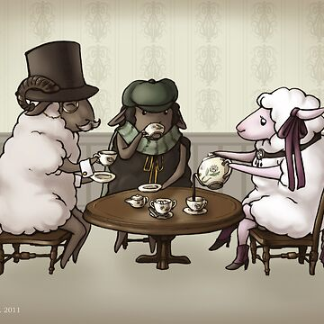 Proper Sheep at the Fancy Tea Party by ninniku