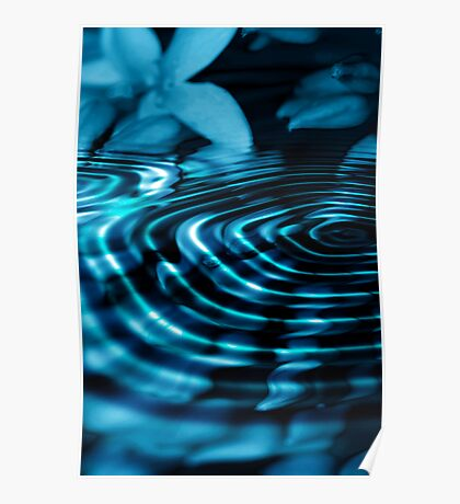 Midnight Floral Dip Poster