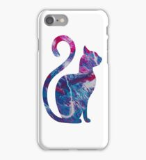Smaller abstract funky cat iPhone Case/Skin