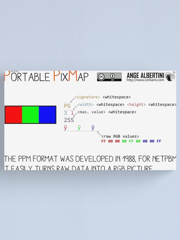 Alternate view of .PPM: Portable Pixmap Canvas Print