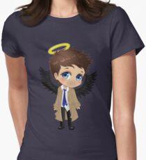 Supernatural Castiel Chibi Womens Fitted T-Shirt