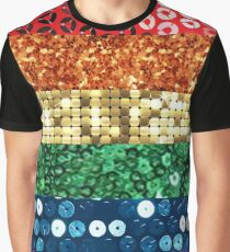 sequin pride flag Graphic T-Shirt