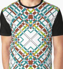 Multi-colored plaid .  Graphic T-Shirt