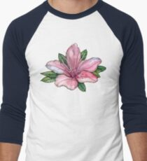 pink  watercolor flowers, pointillism drawing T-Shirt