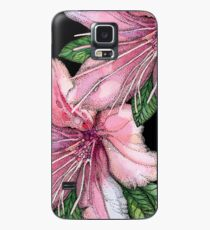 pink  watercolor flowers, pointillism drawing Case/Skin for Samsung Galaxy