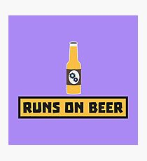 Runs on Beer Rmk10 Photographic Print