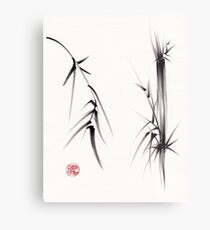 """Tao"" Original sumi-e brush painting on paper. Metal Print"