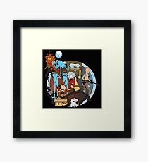 rick and morty follout Framed Print