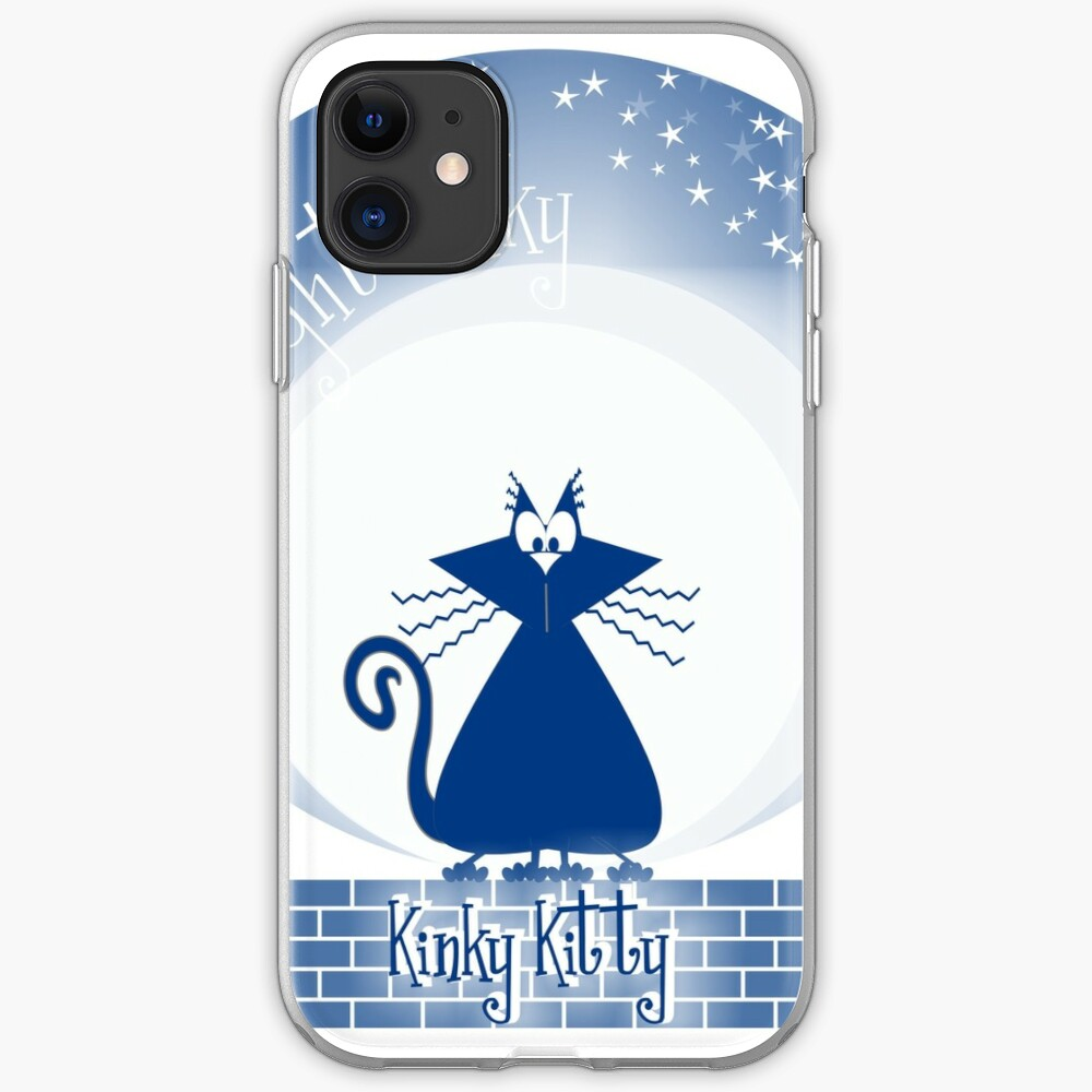 KINKY KITTY - Moonlight Kitty iPhone Case & Cover