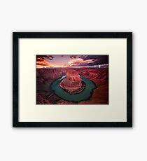 """""""Horseshoe Bend"""" ∞ Page, Arizona - U.S.A Framed Print"""