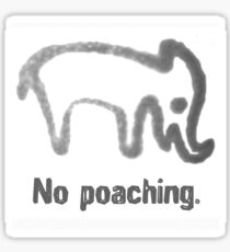 No Poaching collection, white Sticker