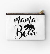 Mama Bear black and white Studio Pouch