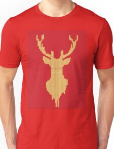 Knitted yellow Deer  Unisex T-Shirt