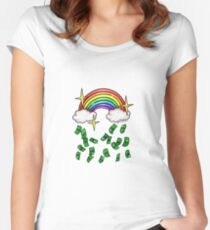 Make It Rain(bow) Women's Fitted Scoop T-Shirt