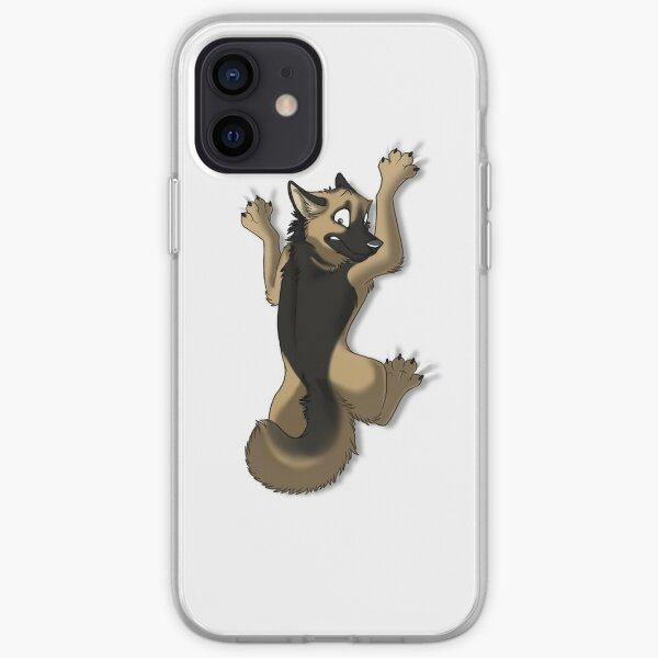 Clinging German Shepherd Dog iPhone Soft Case