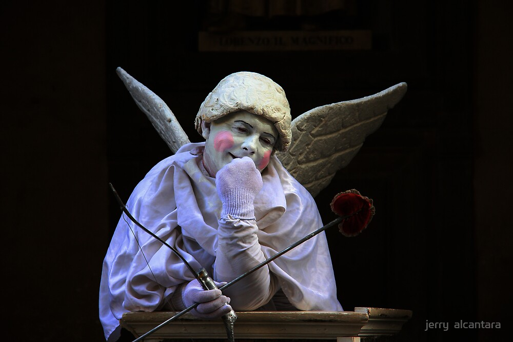 Stupid Cupid  ( The living statue ) by jerry  alcantara
