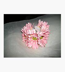 "wedding headpiece name ""Elsa""- crown of flowers   Photographic Print"