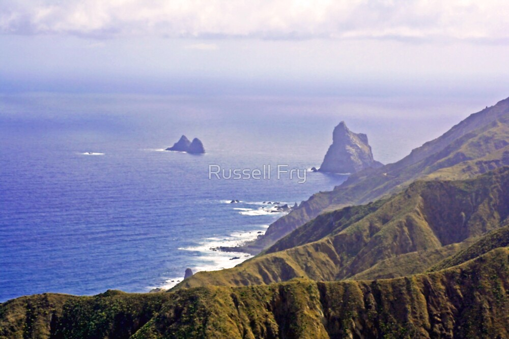 Tenerife View of Ocean and Mountains by Russell Fry