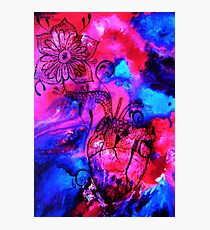 Psychedelic Heart Photographic Print