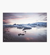 Sunset over Glacier Lagoon Photographic Print