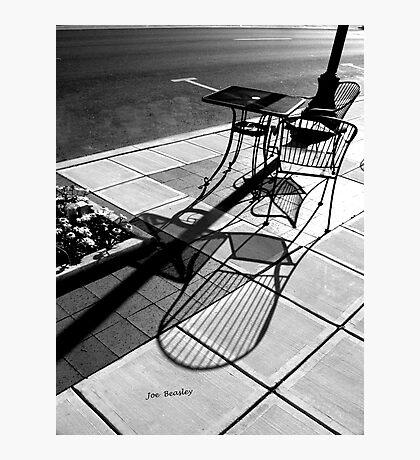 Sidewalk Shadows Photographic Print