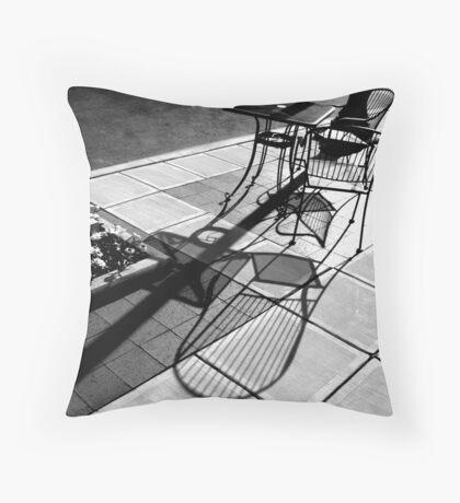 Sidewalk Shadows Throw Pillow
