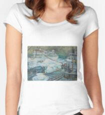 Refuelling at sea. Women's Fitted Scoop T-Shirt