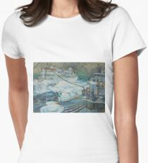 Refuelling at sea. Women's Fitted T-Shirt