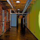 Comic Abstract Hallway by steelwidow