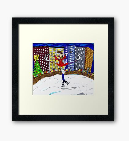 Skating in the city  Framed Print