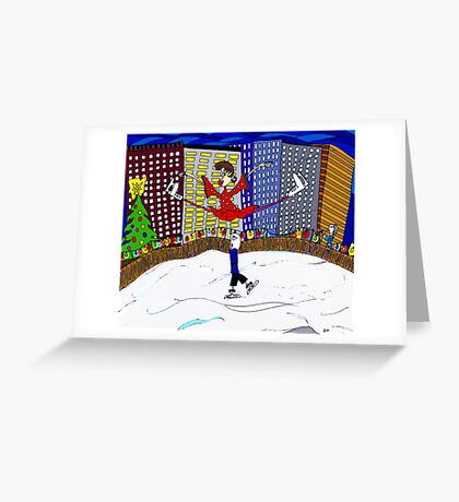 Skating in the city  Greeting Card