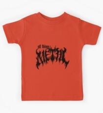 All Things Metal Black Kids Clothes