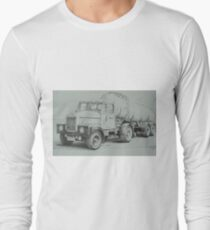 Black and white Scammell. Long Sleeve T-Shirt