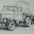 Black and white Scammell. by Mike Jeffries